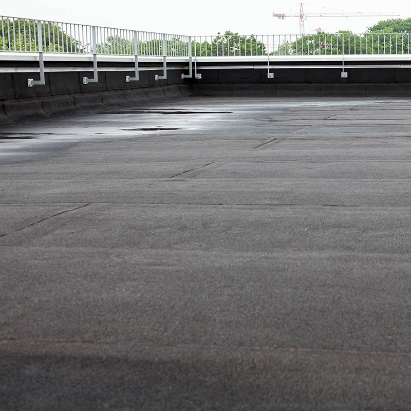 Image of commercial flat roofing installed in edmonton by MD roofing