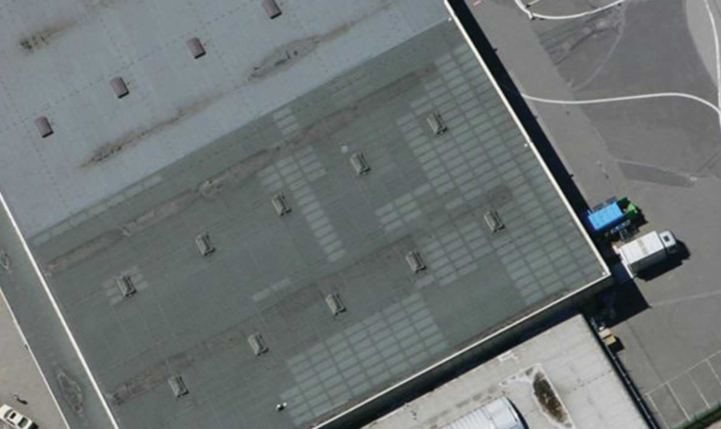 Reroofing Company in Edmonton by MD Roofing - image of large commercial flat roofing