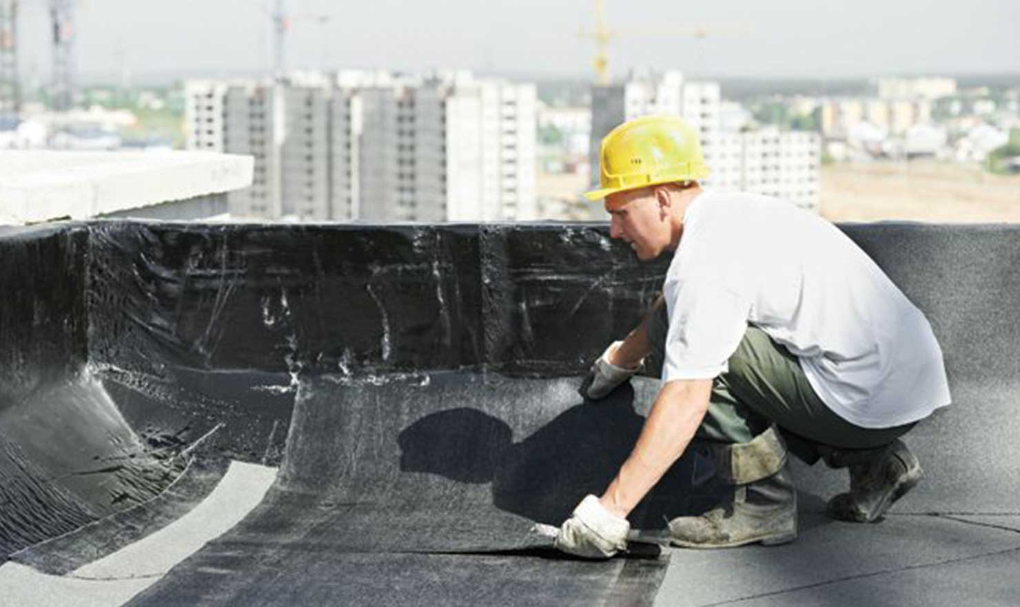 Industrial roof installation in Edmonton by MD Roofing - image of Flat roofing